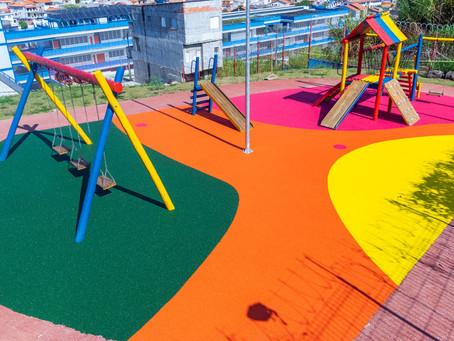 Mais um projeto concluído: piso de borracha para playground em Guarulhos!