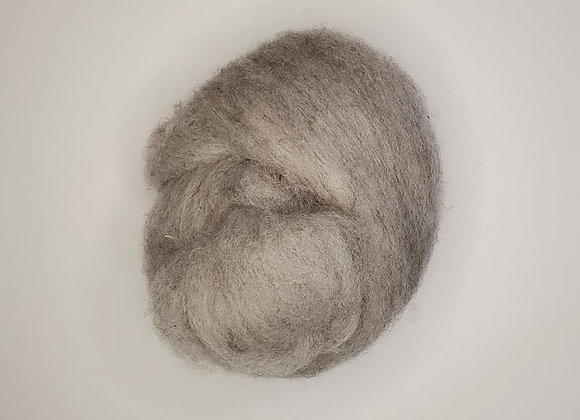 Natural Grey Shetland Batts By the ounce