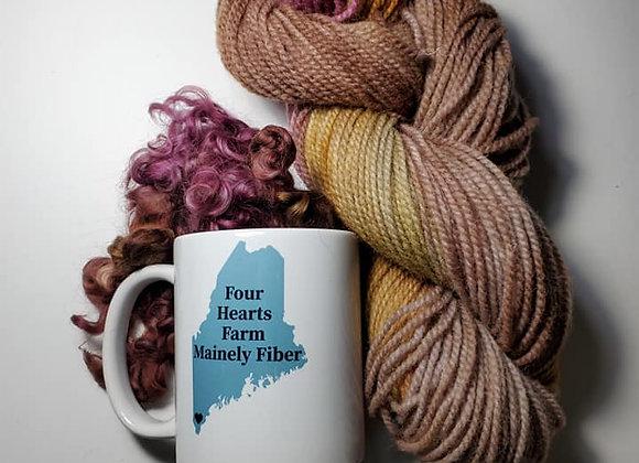 Coffee Mug with the Mainely Fiber Logo