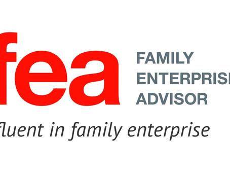 Nouvelle certification: The Family Enterprise Advisor (Conseiller aupres d'entreprises Familiales)