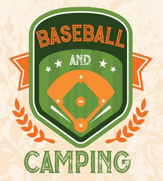 Baseball and Camping