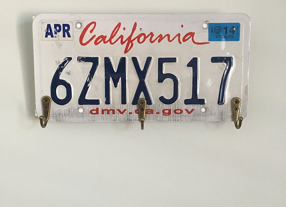 California plate with hooks