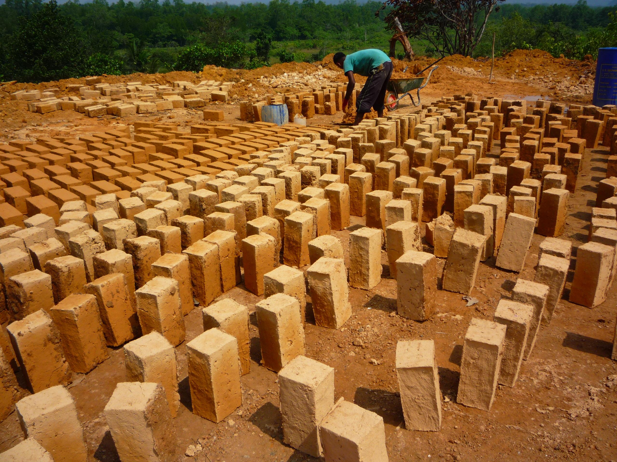 Making clay bricks our own