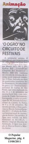 Filme O Ogro (MMarte) Jornal O Popular - 15 de agosto de 2011