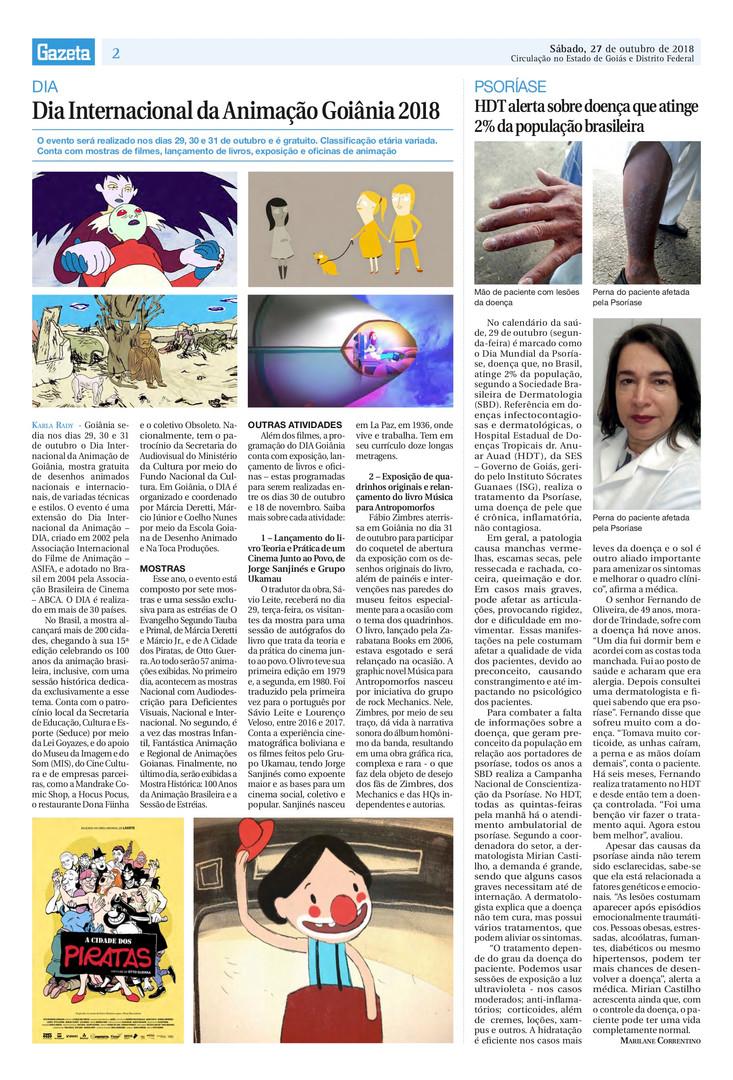 Dia Internacional da Animação - Gazeta - 27 de outubro de 2018