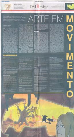 Dia Internacioal da Animação - Diário da Manhã (capa do DM revista) - 28 de outubro de 2010