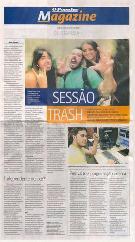 TRASH - O Popular -  Capa Caderno Magazine  - 18 de setembro de 2008