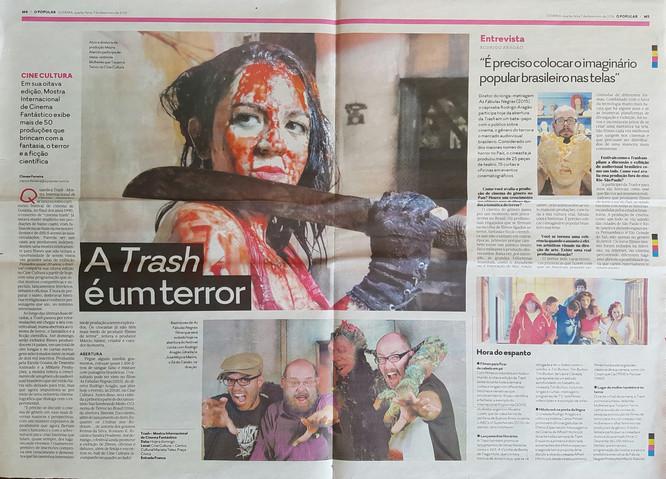 TRASH - Jornal O Popular - Caderno Magazine - 7 de dezembro de 2017