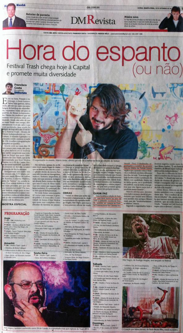 TRASH - Diário da Manhã - DM Revista - 18 de setembro de 2011