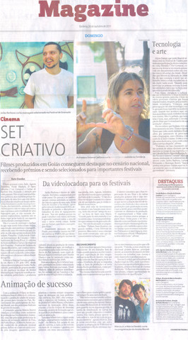 Márcio Jr e Márcia Deretti (sócios MMarte) -  Jornal O Popular - 30 de outubro de 2011