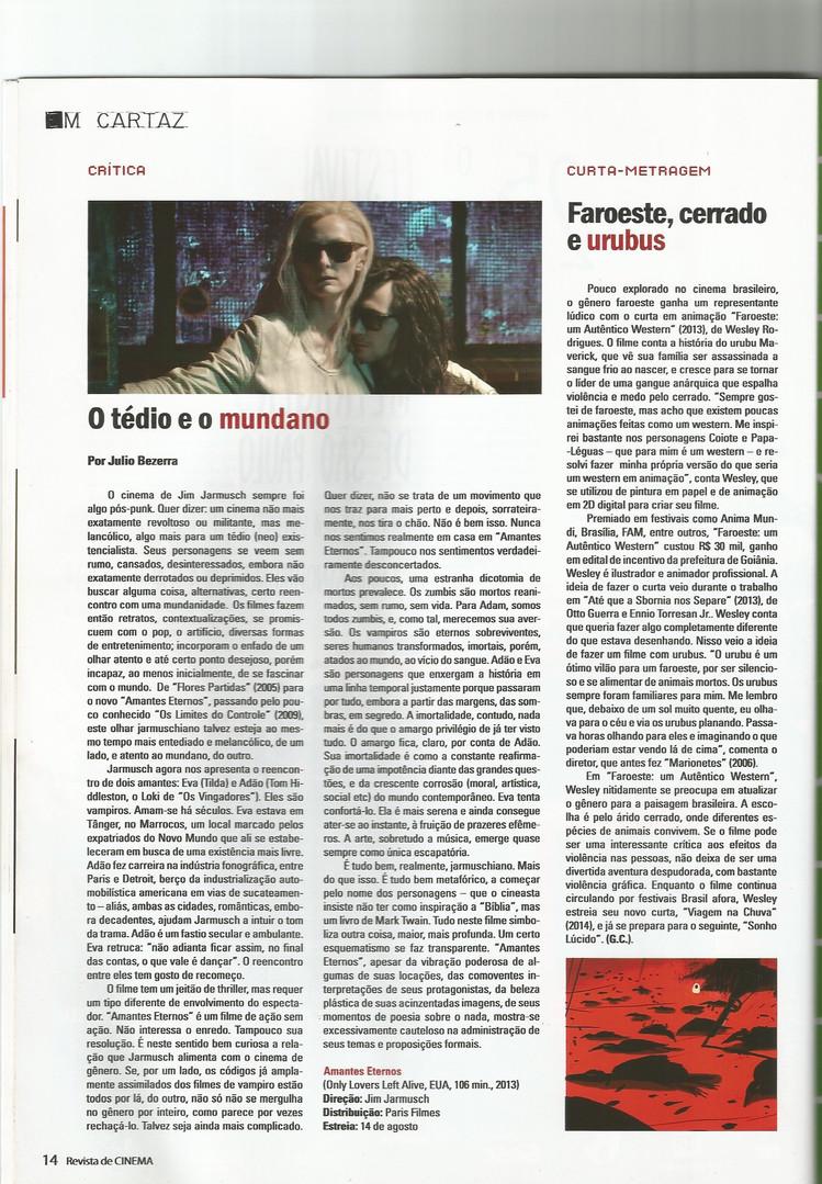 Filme Faroeste: Um Autêntico Western (Dir. Wesley Rodrigues) - Revista de Cinema - Ago/Set de 2014 - ANO XV