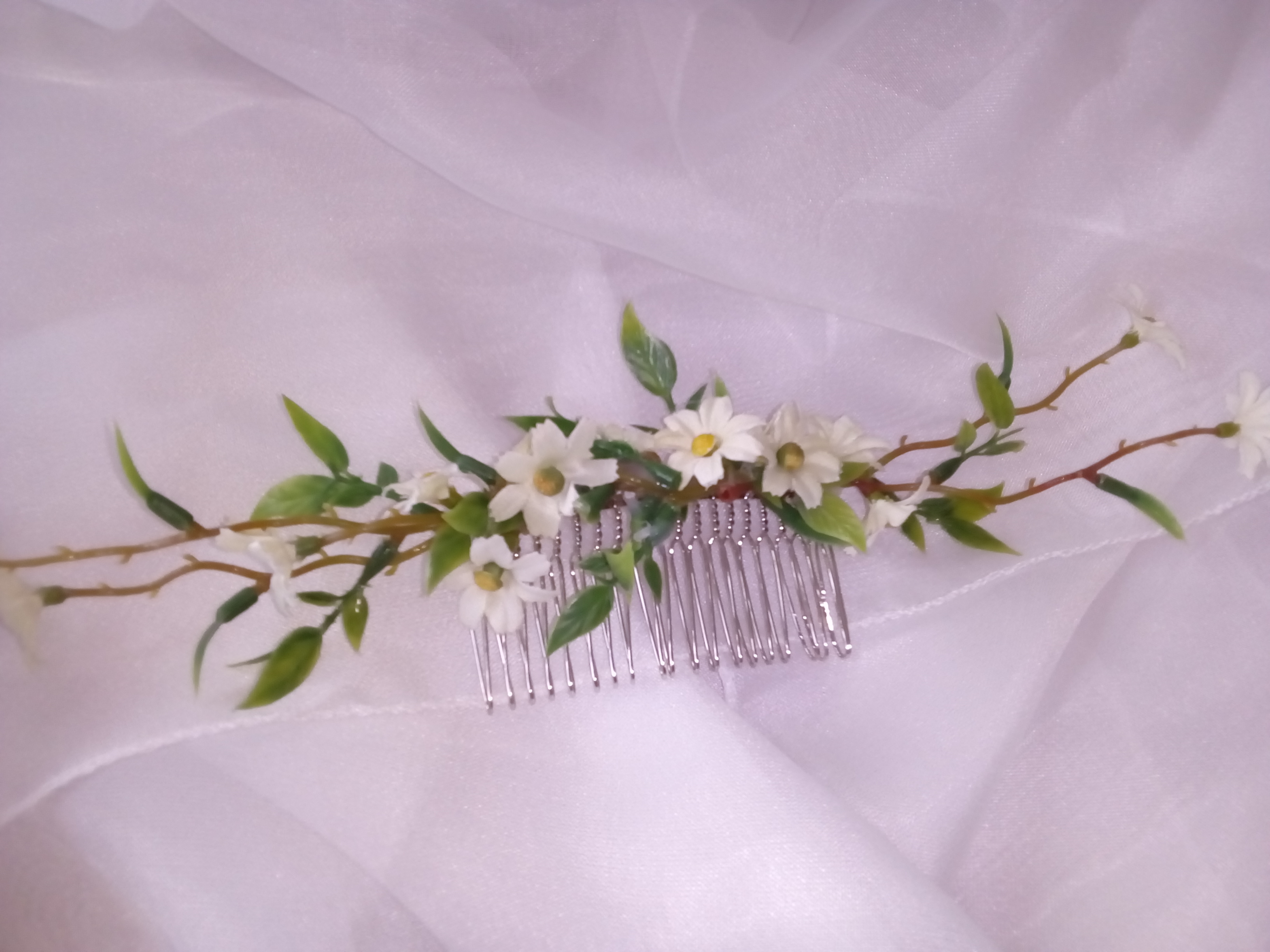 Daisy bridal hair comb