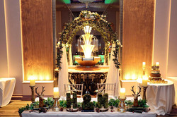Wedding arch and top table