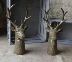 Chiseled stags heads