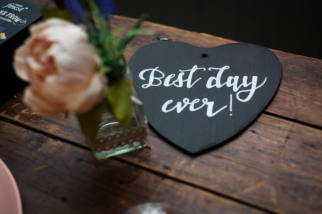 Best day ever chalkboard heart