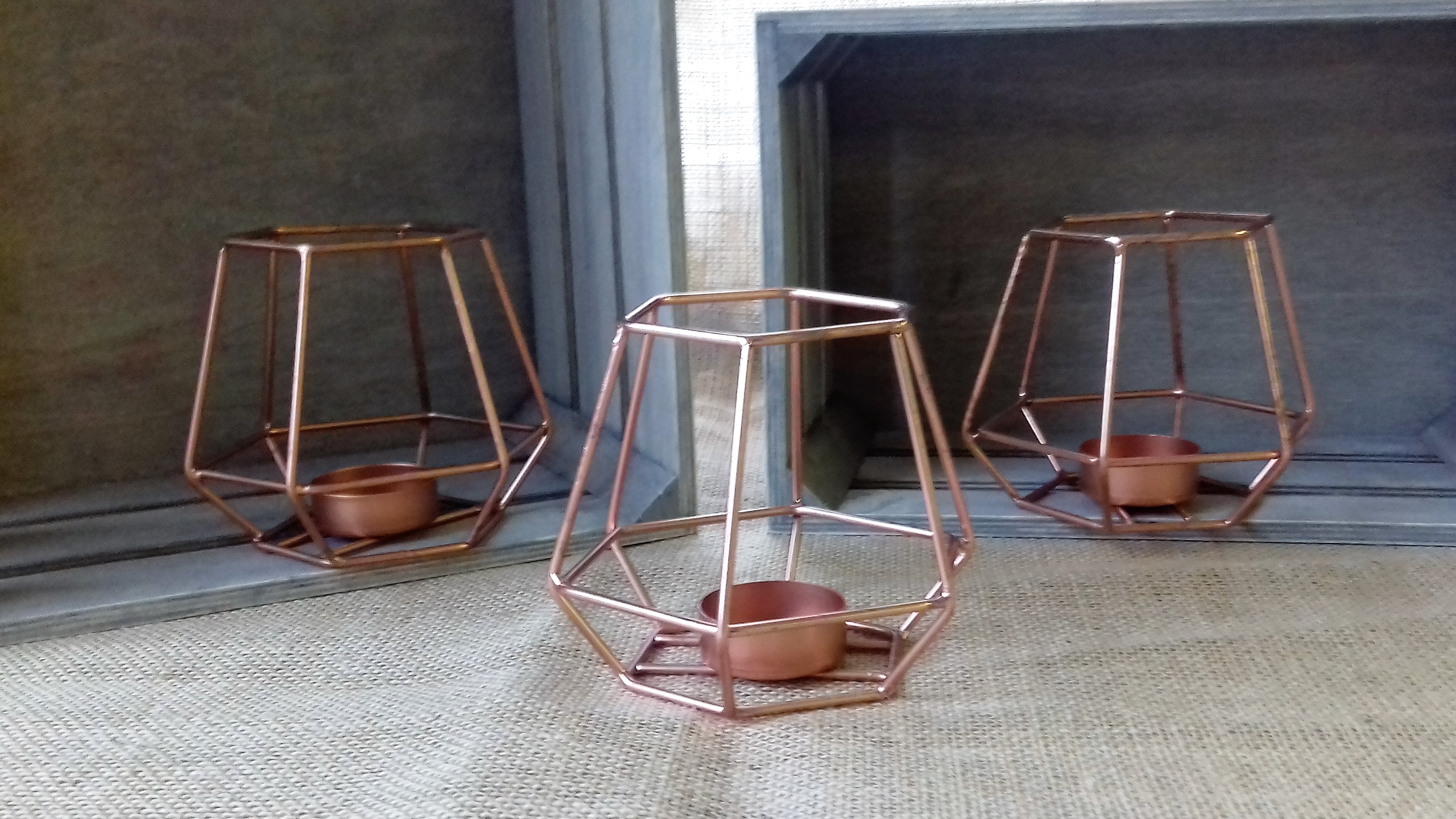 4 x copper geo large