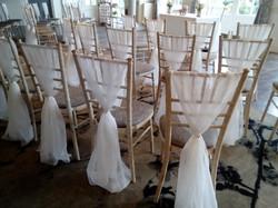 Chiffon chair sash