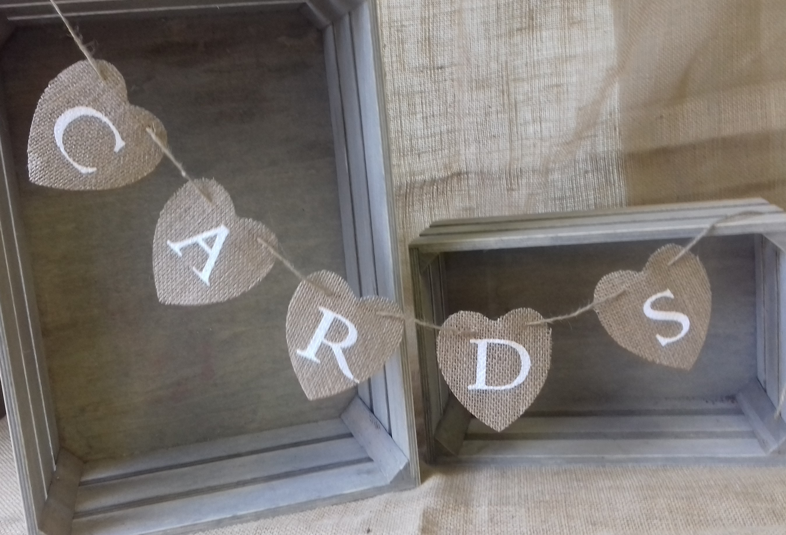 card heart bunting
