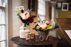 Floral wedding venue decor