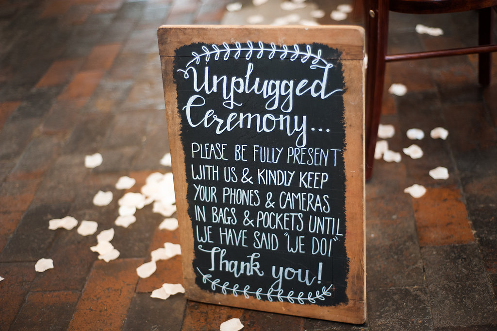 Unplugged ceremony