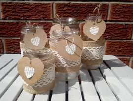 Hessian wrapped jars
