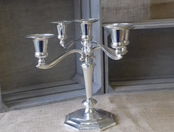 5 arm silver candleabra