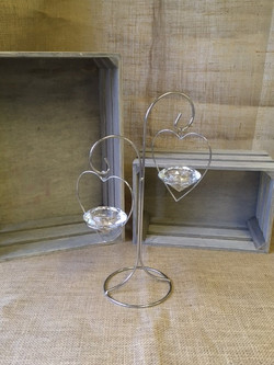 silver and crystal candleholder