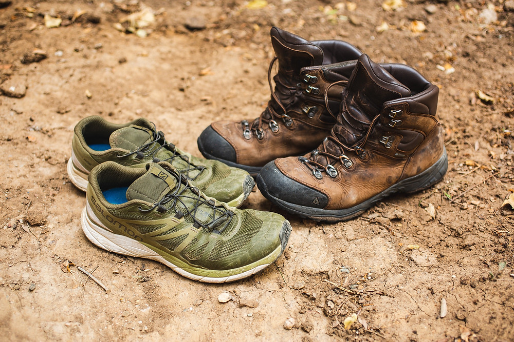 Hiking Boots and Trail Running Shoes