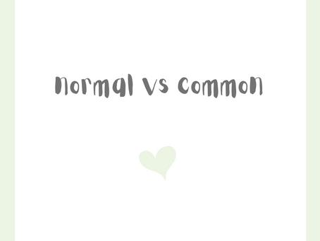 Normal vs Üblich - normal vs common