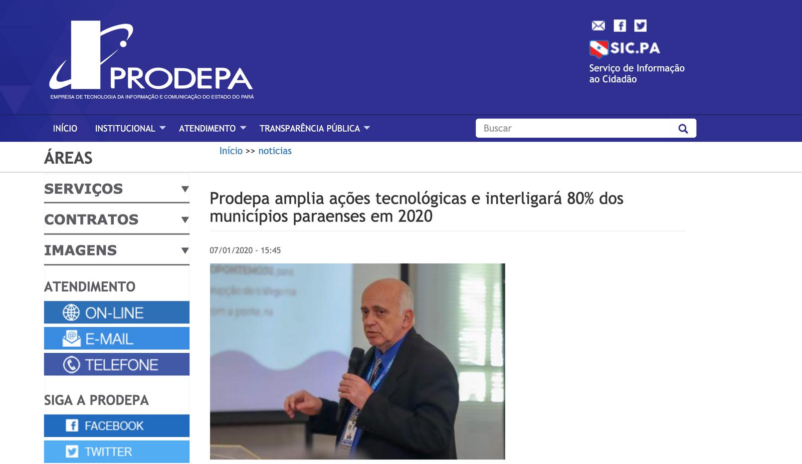 Pará amplia ações tecnológicas e interligará 80% dos municípios paraenses