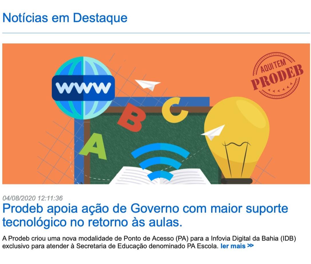 BA: rede de ensino estadual amplia velocidade de acesso à internet