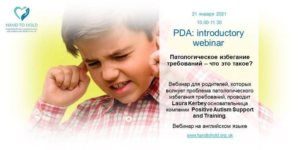 PDA: introductory webinar