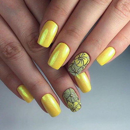 62-Yellow-Nail-Art-Designs-To-Try-On_3.j