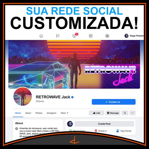 INSTA Post DESIGN REDE SOCIAL customizad