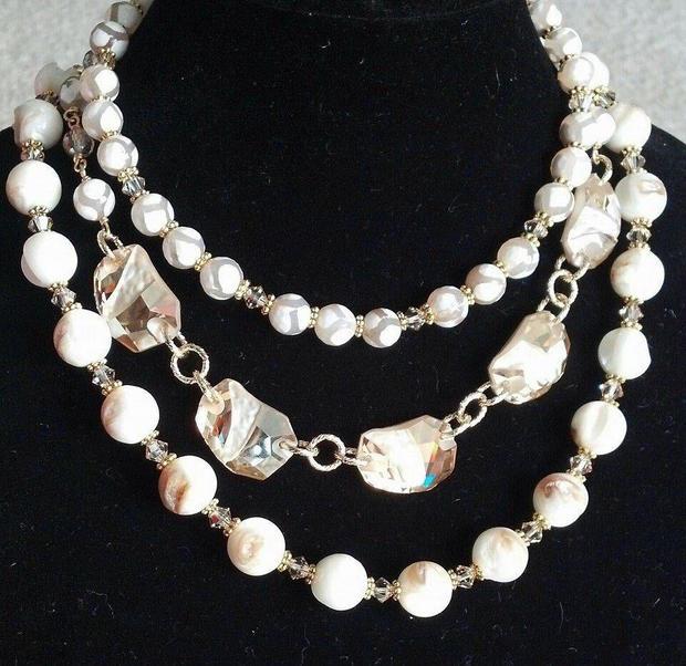 6. Swarovski/ Mother of Pearl