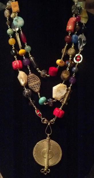 3. African brass mixed bead