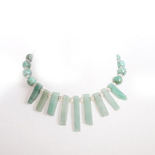 Aventurine shard necklace
