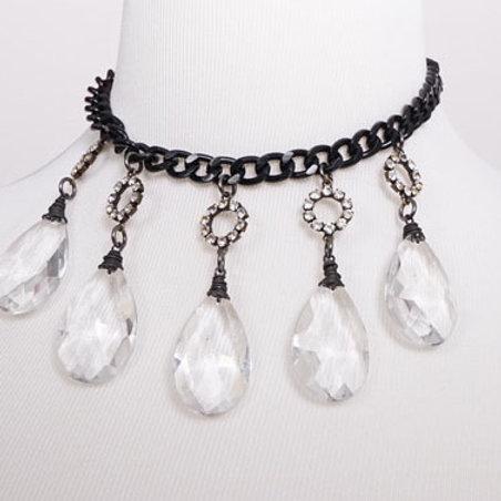 Vintage crystal drop necklace