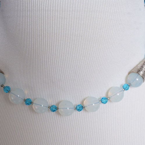 Opalite/ Blue agate necklace