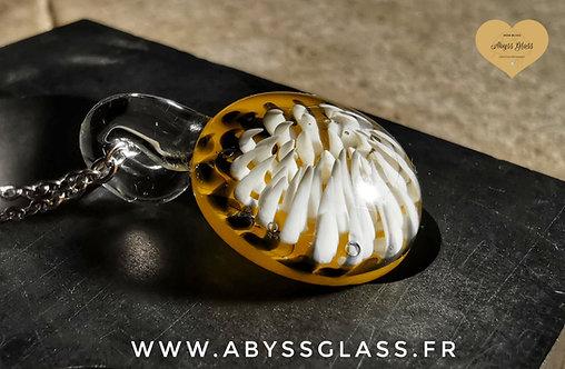Pendentif en verre soufflé Inflorescence