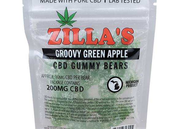 """Groovy Green Apple"" CBD gummy bears"
