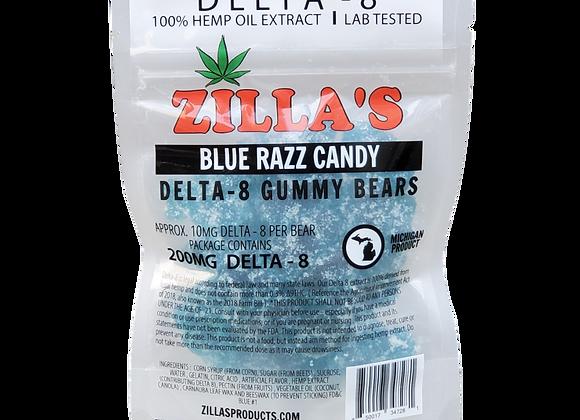 DELTA-8 Blue Razz Gummy Bears