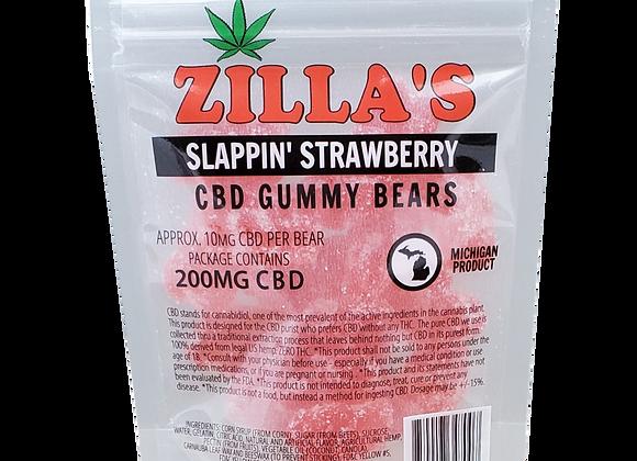 """Slappin' Strawberry"" CBD gummy bears"