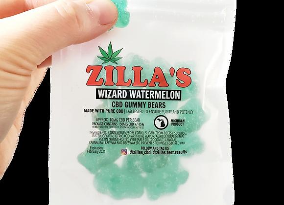 """""""Wizard Watermelon"""" CBD Gummy Bears"""