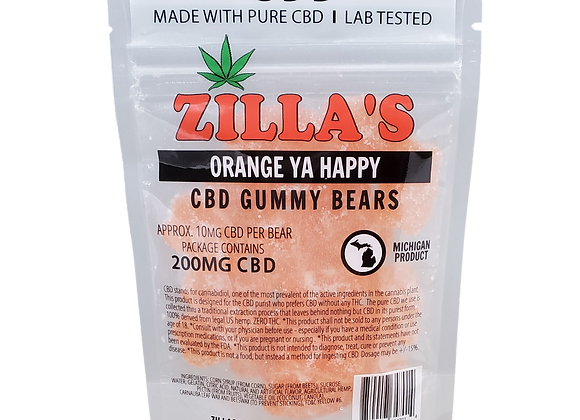 """Orange Ya Happy"" CBD gummy bears"