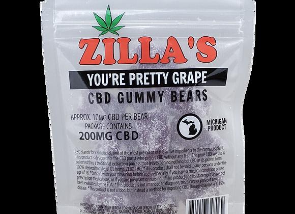 """You're Pretty Grape"" CBD gummy bears"