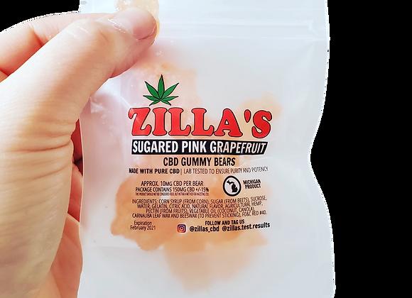 """Sugared Pink Grapefruit""  CBD Gummy Bears"