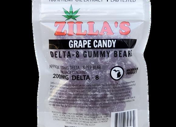 DELTA-8 Grape Gummy Bears
