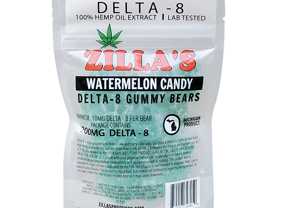 DELTA-8 Watermelon Gummy Bears