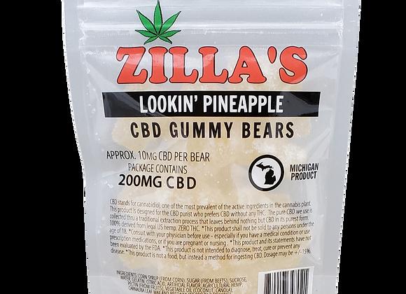 """Lookin' Pineapple"" CBD gummy bears"